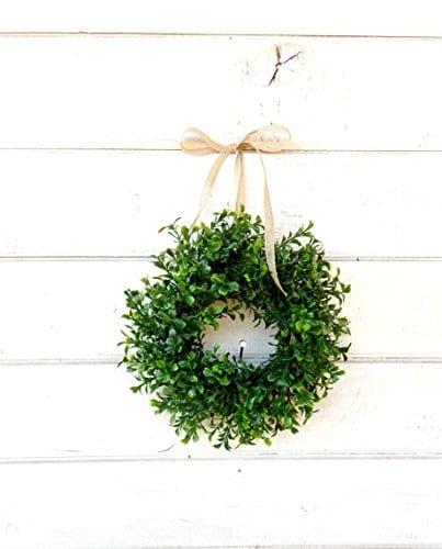 Mini Window Wreath MINI Boxwood Wreath Farmhouse WreathCountry Cottage Wreath Farmhouse Decor SCENTED Wreath Small Wreath Wedding Decor Holiday Home Decor 0