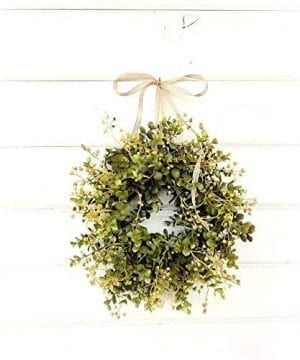Mini Window Wreath MINI Eucalyptus WreathFarmhouse WreathCountry Cottage Wreath Farmhouse Decor Small Wreath Modern Farmhouse WreathRustic Home Decor Greenery Wreath Gifts 0 300x360