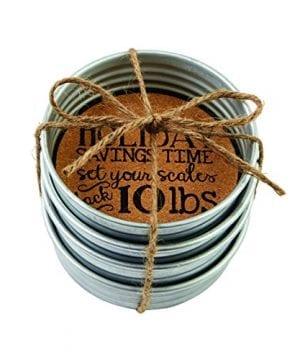 Mud Pie 4255016 Holiday Mason Jar Coasters 0 0 300x360