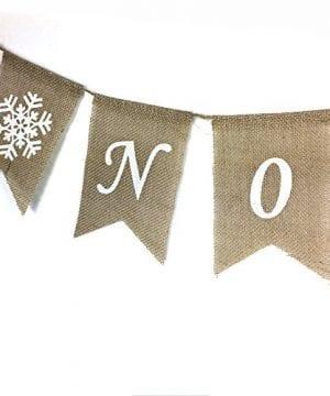 Noel Burlap Banner Merry Christmas Garland Bunting Mantel Fireplace Decoration 0 1 300x360