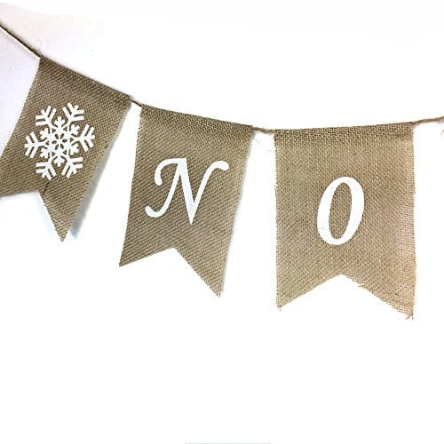 Noel Burlap Banner Merry Christmas Garland Bunting Mantel Fireplace Decoration 0 1
