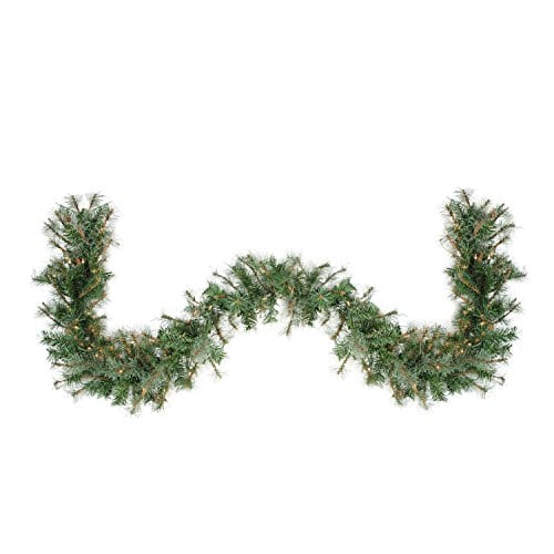 Northlight 6 X 9 Pre Lit Country Mixed Pine Artificial Christmas Garland Clear Lights 0