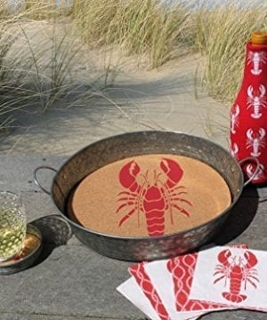 Occasionally Made 4 X 4 X 1 LobsterCrayfish Mason Jar Lid Coaster Stack 0 0 300x360