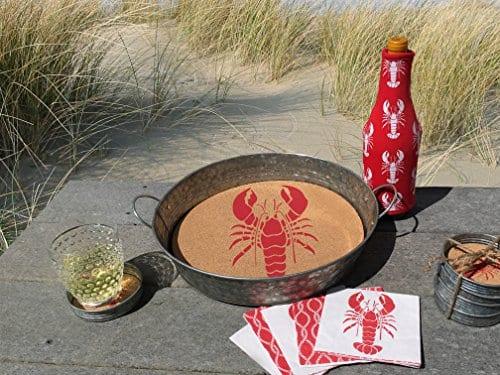 Occasionally Made 4 X 4 X 1 LobsterCrayfish Mason Jar Lid Coaster Stack 0 0