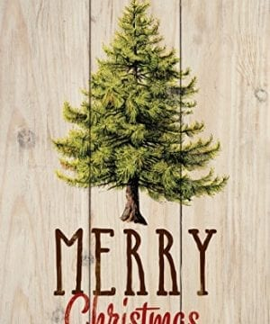 P GRAHAM DUNN Merry Christmas Evergreen Tree Natural 45 X 65 Solid Wood Mini Tabletop Sign 0 300x360