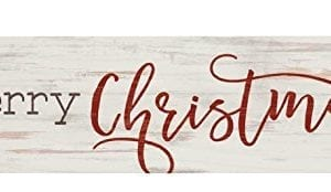 P GRAHAM DUNN Merry Christmas Whitewash 6 X 15 Wood Tabletop Toothpick Sign 0 300x174