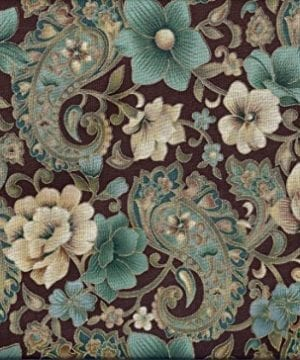Paisley Valance Brown Teal Gold Glitter 0 300x360
