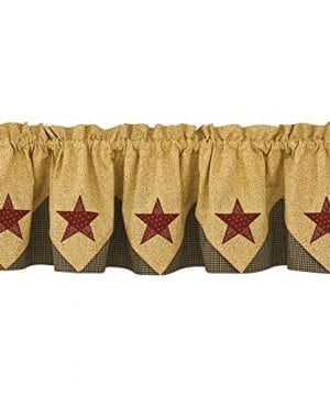 Park Designs Country Star Lined Point Valance 72 X 15 0 1 300x360