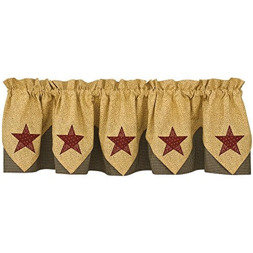 Park Designs Country Star Lined Point Valance 72 X 15 0 1