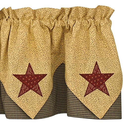 Park Designs Country Star Lined Point Valance 72 X 15 0