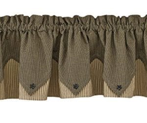 Park Designs Primitive Star Lined Point Valance 72 X 15 0 300x251