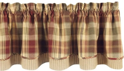 Park Designs Saffron Valance Lined Layer Curtain 72 Inches Long By 16 Inches Tall 0