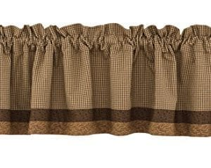 Park Designs Shade Of Brown Lined Border Valance 72 X 14 0 300x240