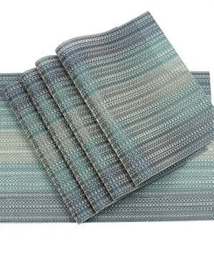 Pauwer Placemats Set Of 6 Crossweave Woven Vinyl Placemat Kitchen Table Heat Resistant Non Slip Kitchen Table Mats Easy To Clean 0 0 300x360