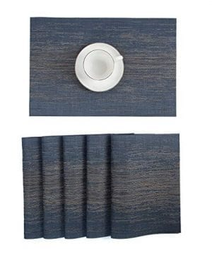 Pauwer Placemats Set Of 6 Crossweave Woven Vinyl Placemat Kitchen Table Heat Resistant Non Slip Kitchen Table Mats Easy To Clean 0 4 300x360
