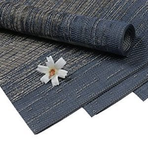 Pauwer Placemats Set Of 6 Crossweave Woven Vinyl Placemat Kitchen Table Heat Resistant Non Slip Kitchen Table Mats Easy To Clean 0 7 300x334