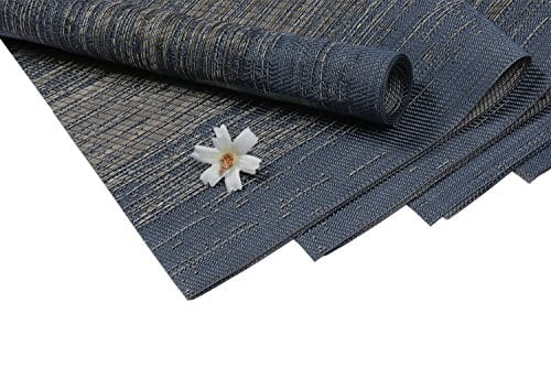 Pauwer Placemats Set Of 6 Crossweave Woven Vinyl Placemat Kitchen Table Heat Resistant Non Slip Kitchen Table Mats Easy To Clean 0 7