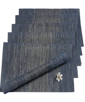 Pauwer Placemats Set Of 6 Crossweave Woven Vinyl Placemat Kitchen Table Heat Resistant Non Slip Kitchen Table Mats Easy To Clean 0 8 300x360