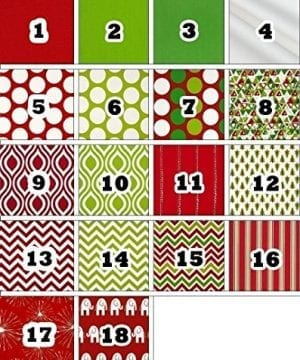 Personalized Christmas Stocking Red Lime White Green Patterns 18 Styles 0 0 300x360