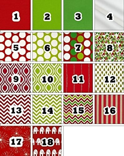 Personalized Christmas Stocking Red Lime White Green Patterns 18 Styles 0 0