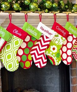 Red Green White Country Personalized Christmas Stocking