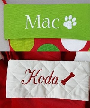 Personalized Christmas Stocking Red Lime White Green Patterns 18 Styles 0 3 300x360