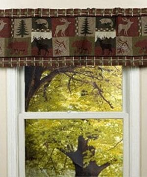 Pine Creek Lodge Tapestry Window ValanceModern Rustic Woven Pattern 54x16 NEW 0 300x360