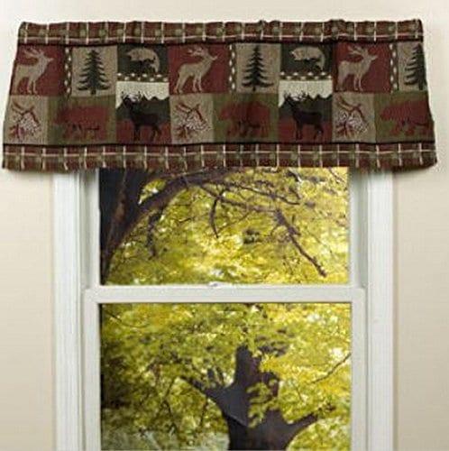 Pine Creek Lodge Tapestry Window ValanceModern Rustic Woven Pattern 54x16 NEW 0