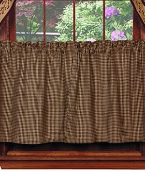 Piper Classics Berry Vine Valance Country Curtain Primitive Curtain Black Check 0 300x360