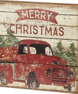 Primitives By Kathy Rustic Merry Christmas Truck Box Sign 0 300x360