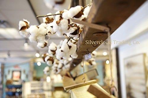Real Cotton Boll Garland 5ft Garland Adjustable Stems Farmhouse Decor Wedding Centerpiece 0 1