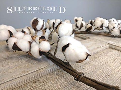 Real Cotton Boll Garland 5ft Garland Adjustable Stems Farmhouse Decor Wedding Centerpiece 0 3