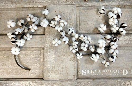 Real Cotton Boll Garland 5ft Garland Adjustable Stems Farmhouse Decor Wedding Centerpiece 0