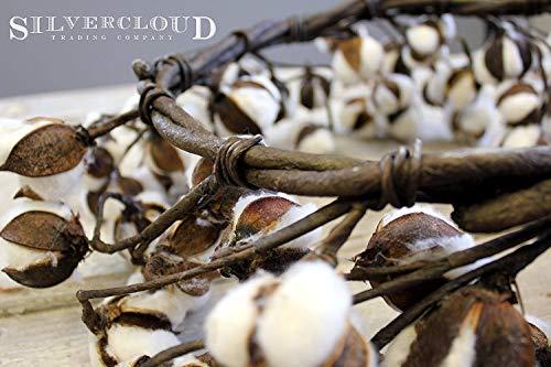 Real Cotton Wreath 18 28 Adjustable Stems Farmhouse Decor Wedding Centerpiece 0 0