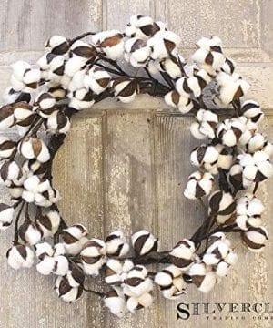 Real Cotton Wreath 18 28 Adjustable Stems Farmhouse Decor Wedding Centerpiece 0 1 300x360