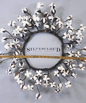 Real Cotton Wreath 18 28 Adjustable Stems Farmhouse Decor Wedding Centerpiece 0 2 300x360