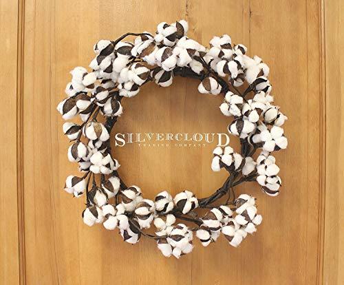 Real Cotton Wreath 18 28 Adjustable Stems Farmhouse Decor Wedding Centerpiece 0 3