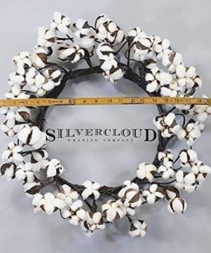 Real Cotton Wreath 18 28 Adjustable Stems Farmhouse Decor Wedding Centerpiece 0 300x360