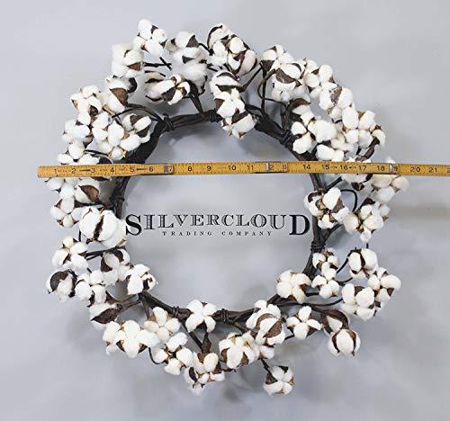 Real Cotton Wreath 18 28 Adjustable Stems Farmhouse Decor Wedding Centerpiece 0