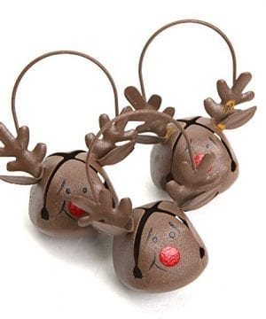 Reindeer Jingle Bell Ornaments 12 Pack 0 300x360