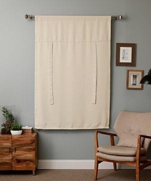 Rose Home Fashion Thermal Insulated Blackout Balloon Curtain For Small Window Rod Pocket Adjustable Tie Up Balloon Shade Curtains Beige 42 By 63 Inches 0 2 300x360