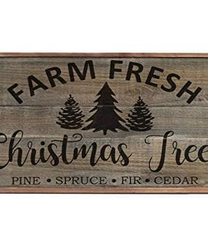 Ruskin352 Farm Fresh Christmas Tree Sign Large Farmhouse Sign Holiday Wood Sign Plaque Decor Christmas Sign Christmas Wood Sign Plaque Decor Ation 0 300x334