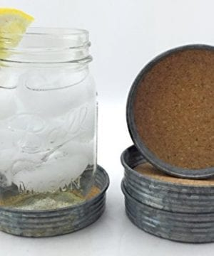 Rustic Style Wide Mouth Mason Jar Lid Coasters Set Of 4 By Ameli Decor 0 1 300x360