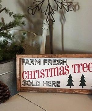 Rustic Wood Sign Christmas Tree Wood Sign Farmhouse Christmas Sign Farmhouse Decor 7 X 16 X 2 0 0 300x360