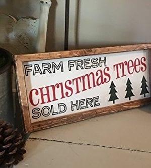 Rustic Wood Sign Christmas Tree Wood Sign Farmhouse Christmas Sign Farmhouse Decor 7 X 16 X 2 0 1 300x333
