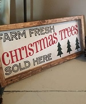 Rustic Wood Sign Christmas Tree Wood Sign Farmhouse Christmas Sign Farmhouse Decor 7 X 16 X 2 0 300x360