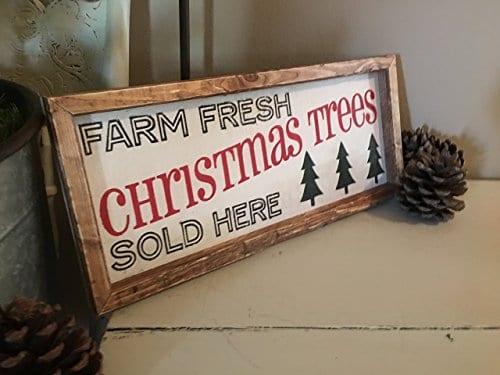 Rustic Wood Sign Christmas Tree Wood Sign Farmhouse Christmas Sign Farmhouse Decor 7 X 16 X 2 0