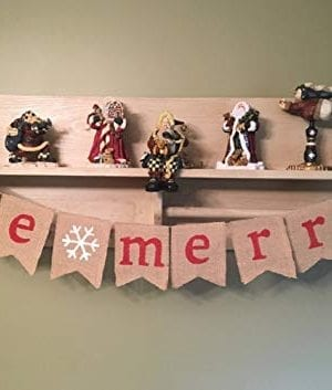 SS Cohen Merry Christmas Burlap Banner Bunting Photo Props Garland Xmas Home Party Decorations 0 0 300x353