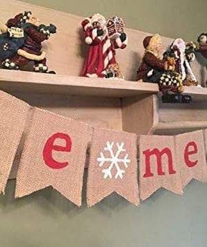 SS Cohen Merry Christmas Burlap Banner Bunting Photo Props Garland Xmas Home Party Decorations 0 300x358