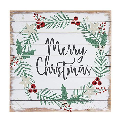 Sincere Surroundings Perfect Pallet 14 X 14 Wood Sign Merry Christmas 0